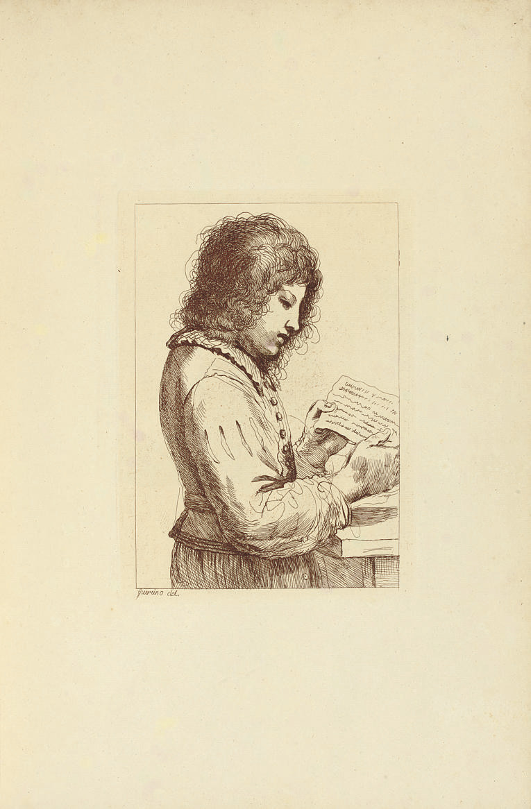 GUERCINO (BARBIERI, Giovanni Francesco, 1591-1666) -- BARTOLOZZI, Francesco (1727-1815) and Richard DALTON (1715?-1791), engravers. [Eighty-Two Prints engraved ... from the original Pictures and Drawings of Guercino in the Collection of His Majesty. London: John and Josiah Boydell, [c. 1800].