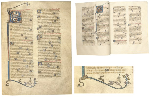 PSALTER, from a Bible, in Fren