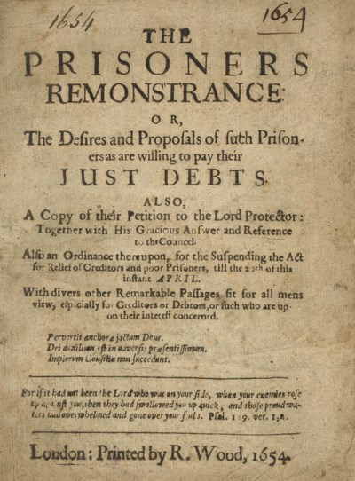 TRACTS ON DEBTORS -- The Priso