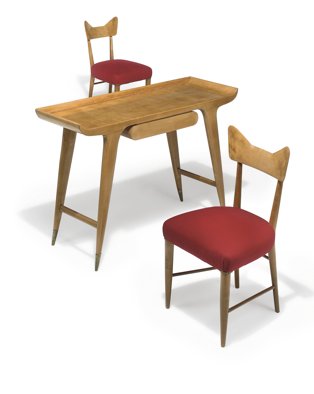 Gio ponti for ambrosini mobili writing table and two - Gio ponti mobili ...