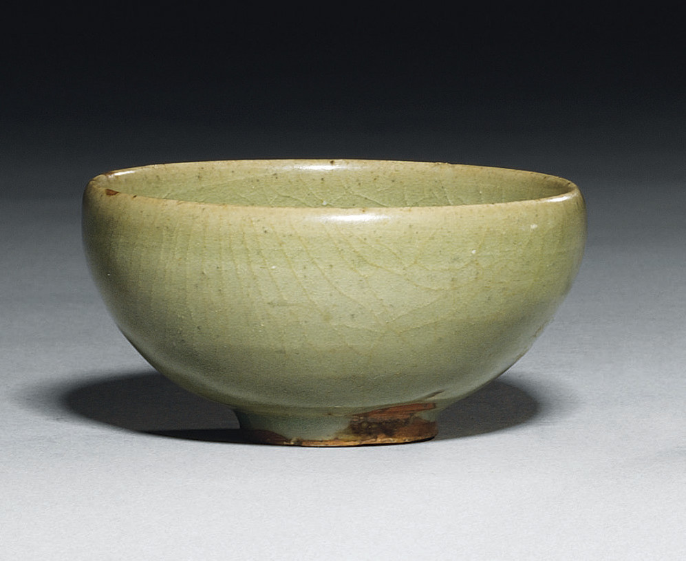 A GREEN JUN 'BUBBLE BOWL'