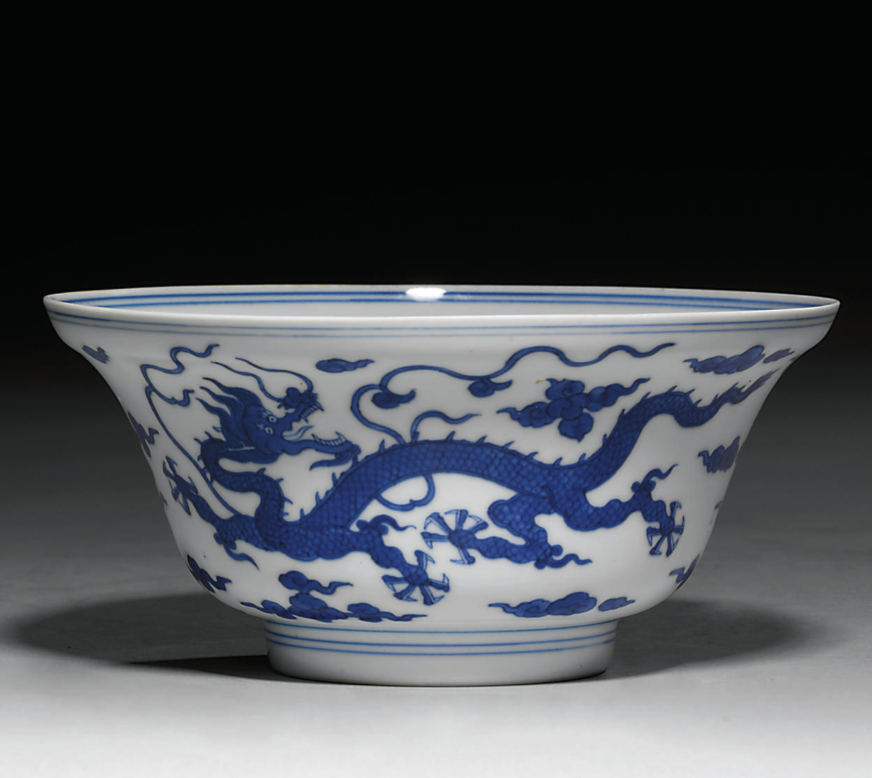 A BLUE AND WHITE OGEE-FORM 'DR