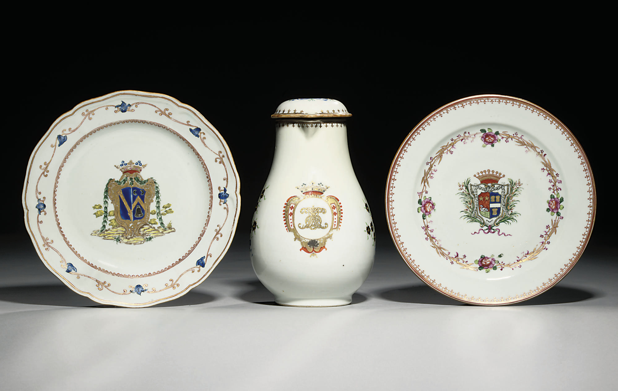TWO ARMORIAL PLATES AND A MONO