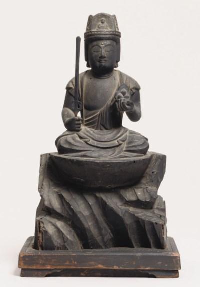 A wood sculpture