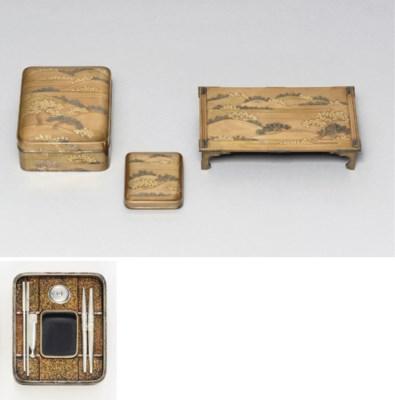 A miniature bundai [writing ta