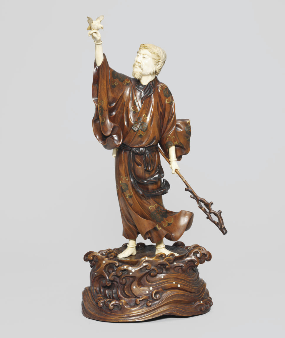 A Wooden Ivory Okimono [Sculpt