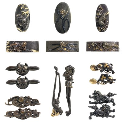 TEN PAIRS OF FUCHI-KASHIRA AND
