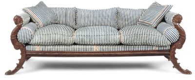 A GEORGE IV MAHOGANY DAYBED