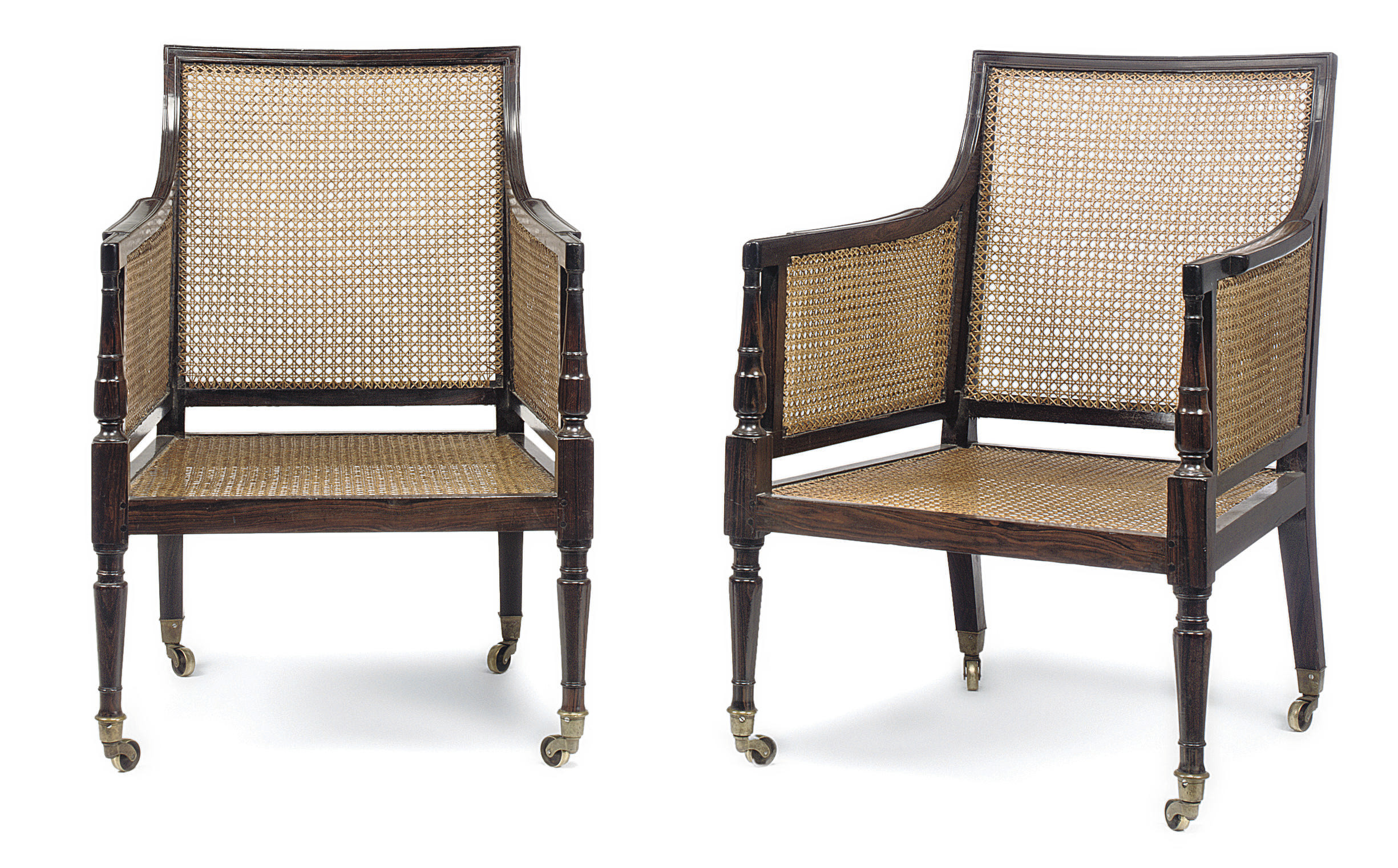 A PAIR OF ANGLO-INDIAN EBONY A