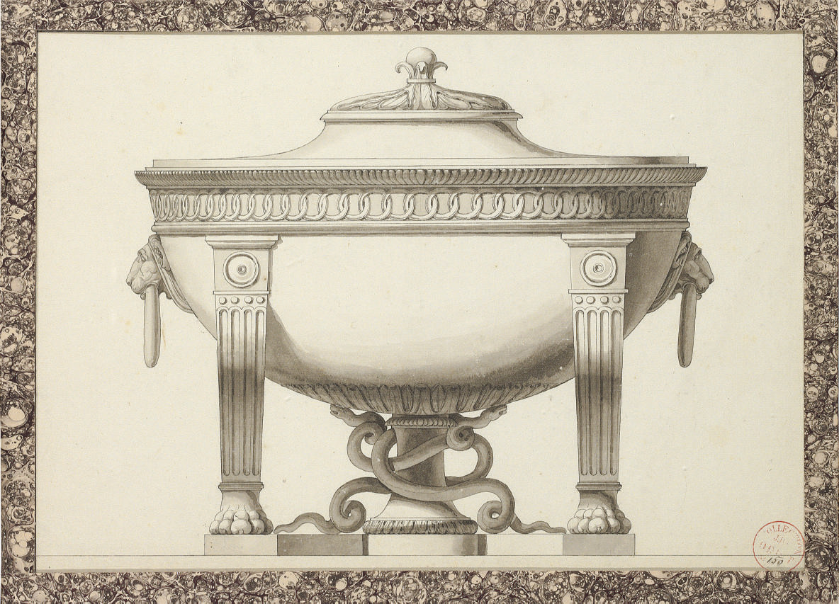 Design for a tureen with lion's head handles