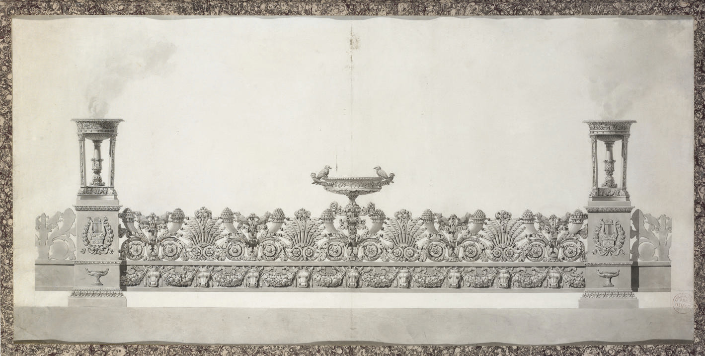 Design for an elaborate surtout-de-table