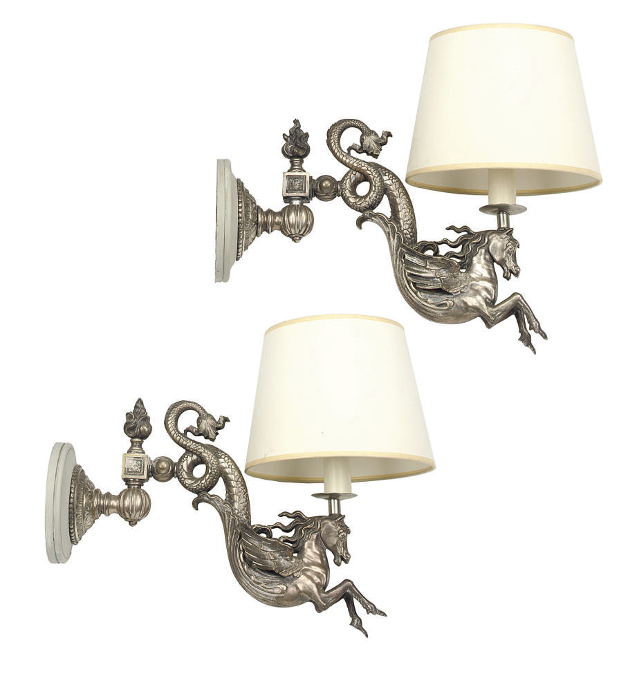 A PAIR OF VICTORIAN SILVERED B