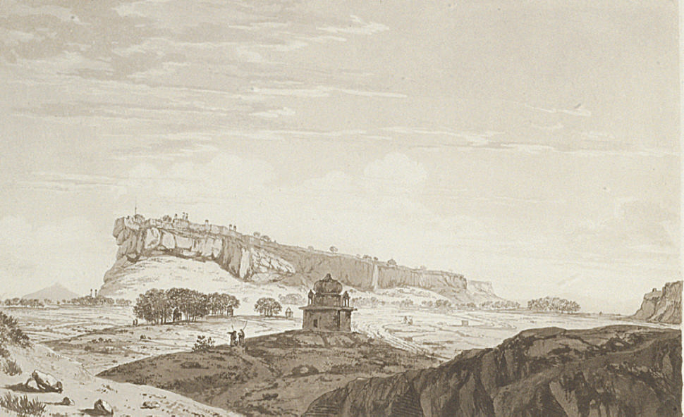 A View of the south side of the Fort of Gwalior, from Select Views in India, (Abbey Travel 416 no. 6)