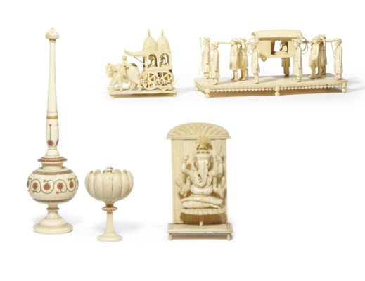 A COLLECTION OF INDIAN IVORY M