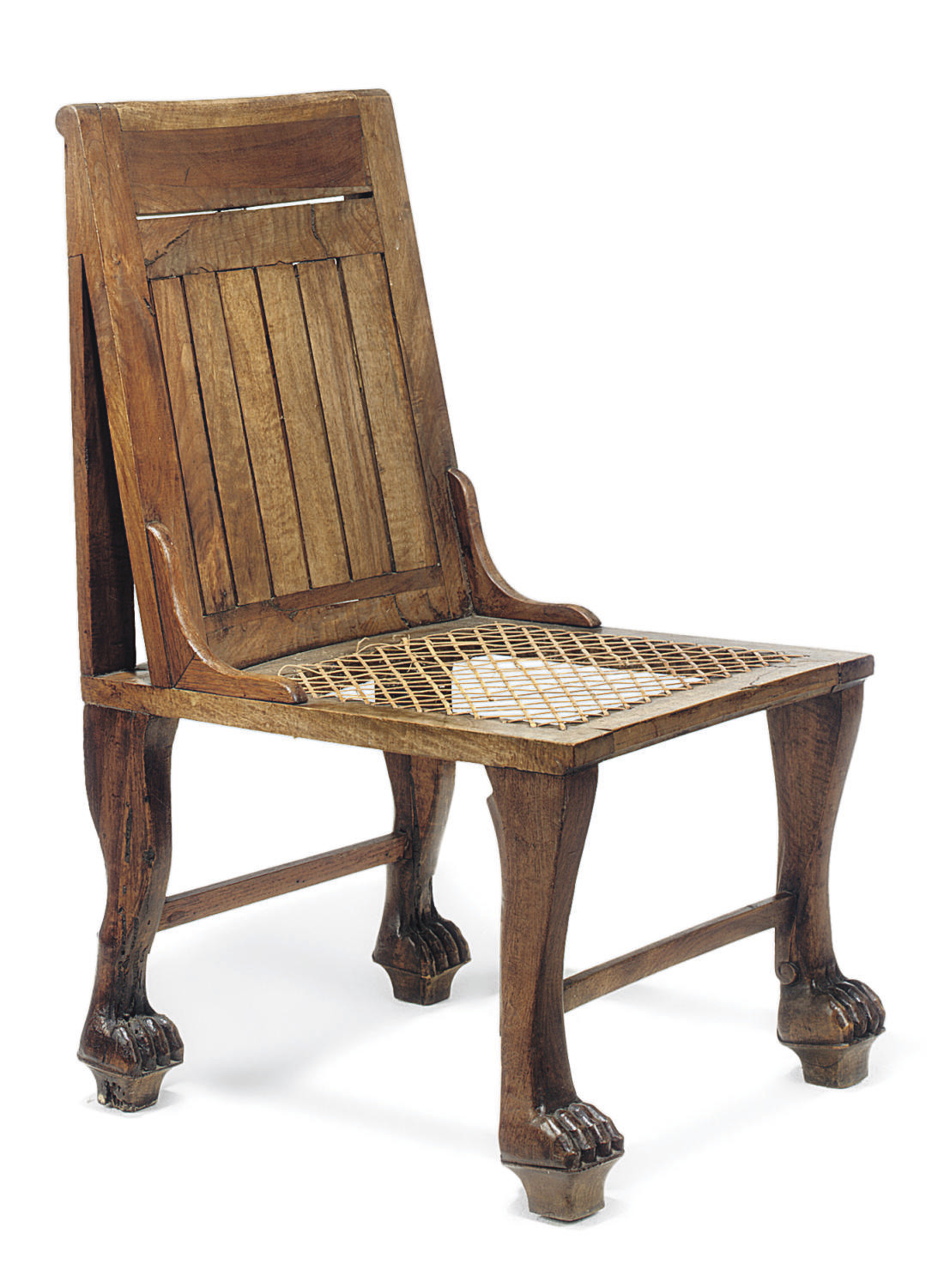 AN EGYPTIAN REVIVAL WALNUT SID