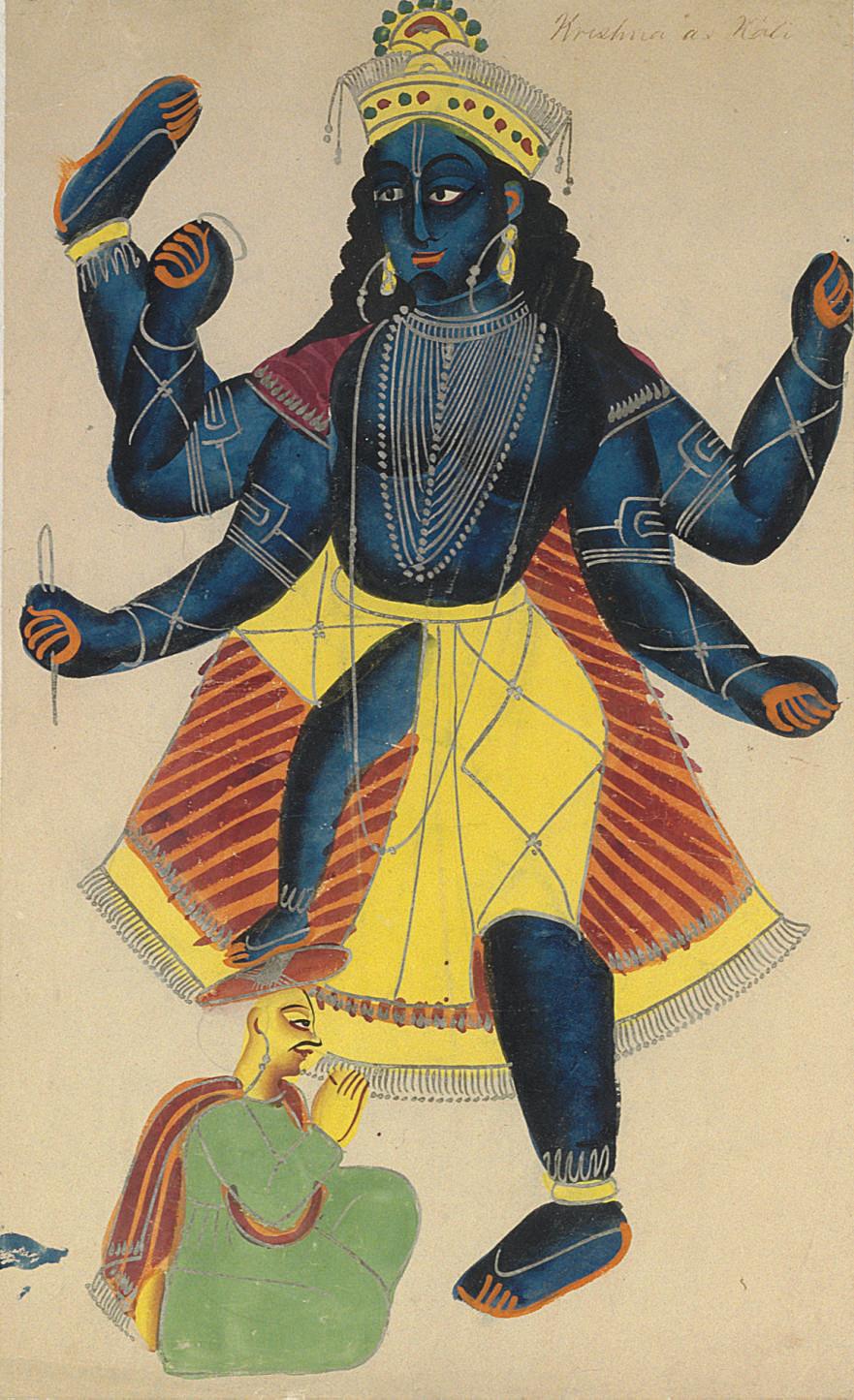 A Kalligat Painting of Kali
