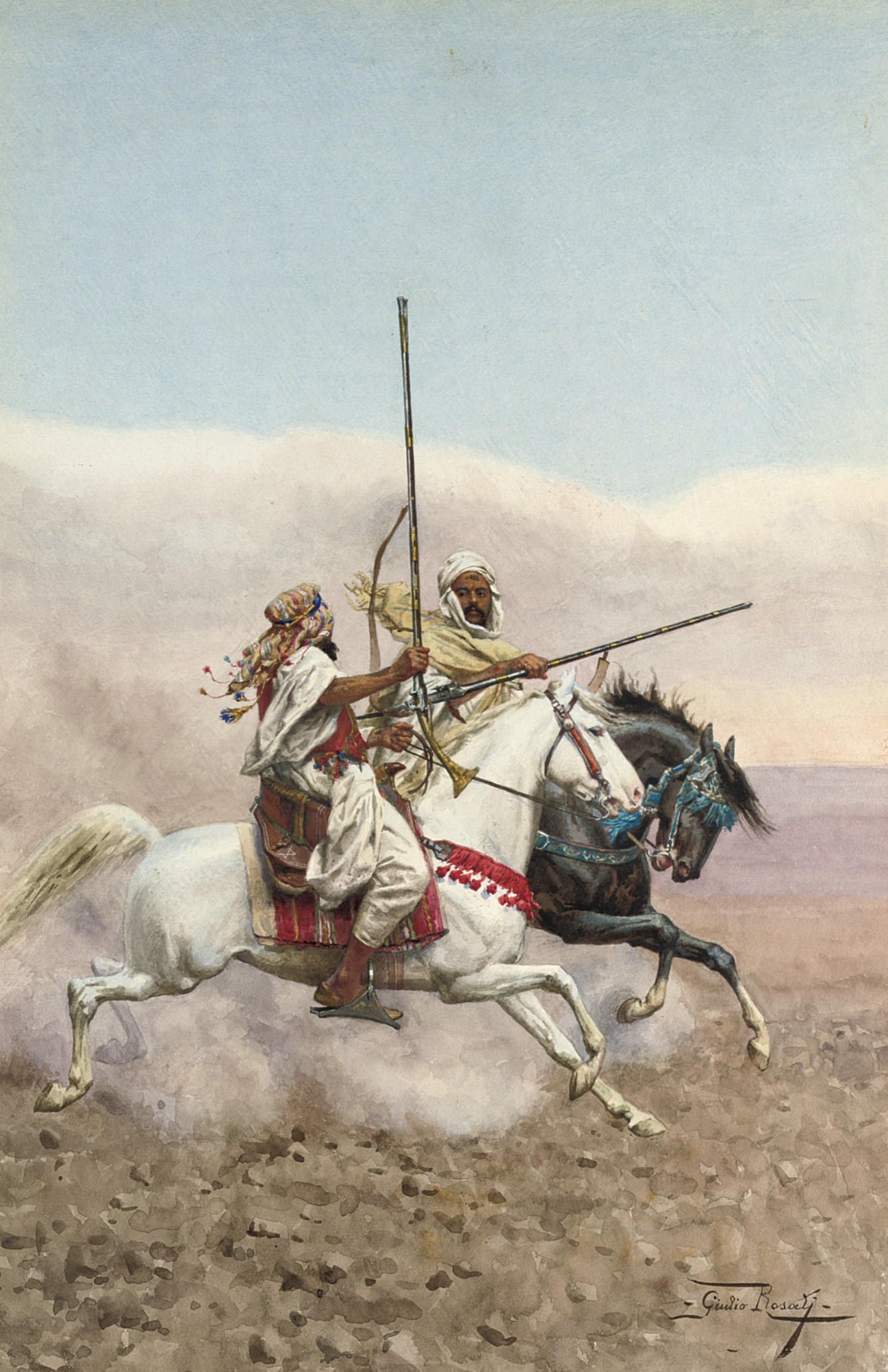 Two Arab horsemen