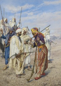 Bedouins preparing a raiding party