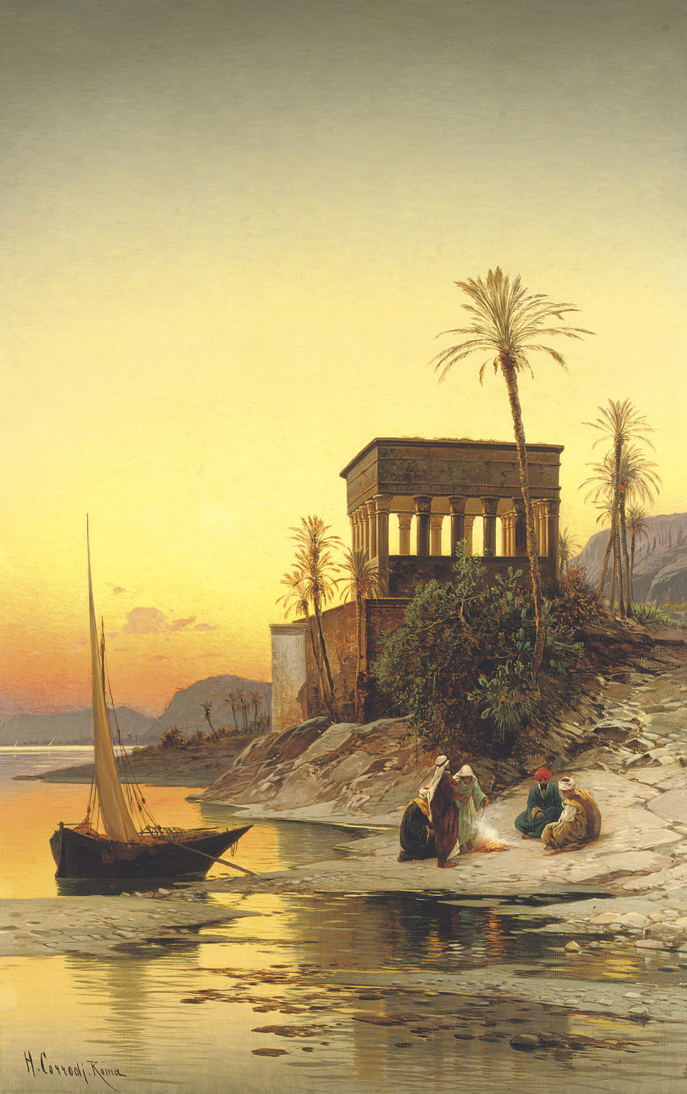 Kiosk of Trajan, Philae on the Nile