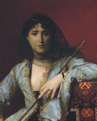 Femme circassienne voilée: Veiled circassian beauty