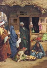 A fruit market, Suez