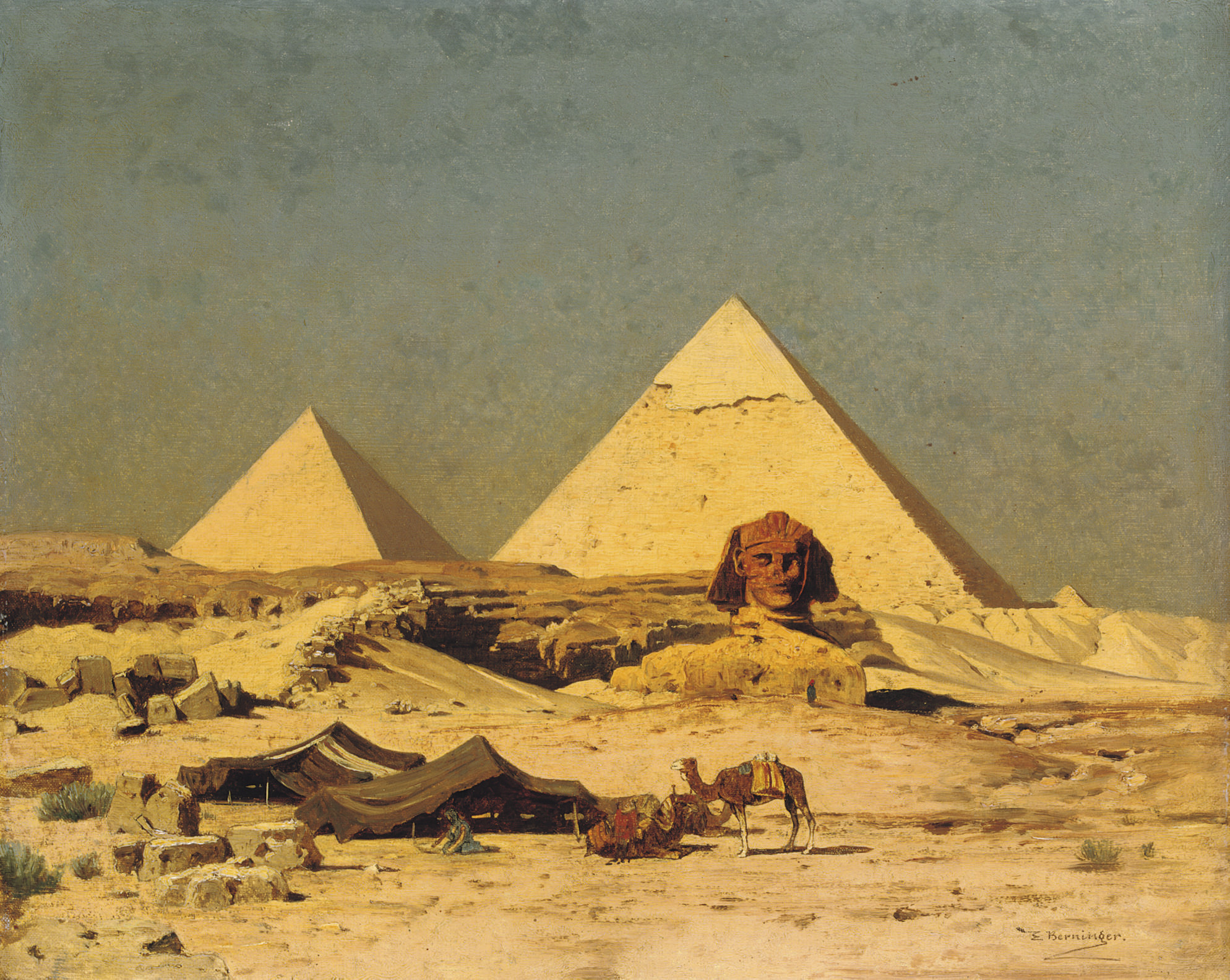 The Sphinx and Pyramids at Gizeh