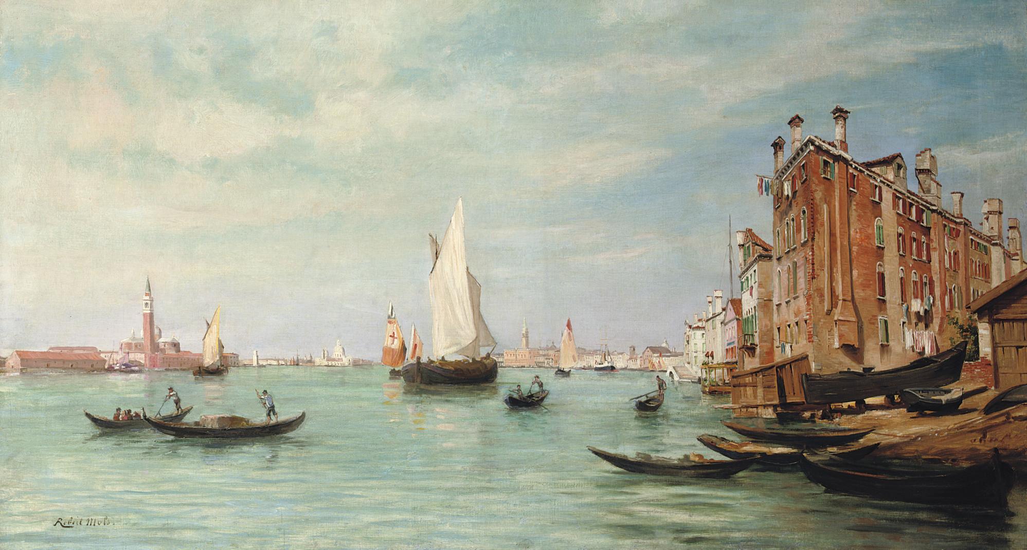 Canale Della Giudecca, Palazzo Ducale and Santa Maria de la Salute, Venice