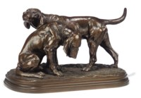 Paire de Chiens de Saint-Hubert (A pair of Bloodhounds)