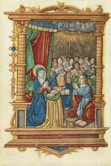 PENTECOST, full-page miniature