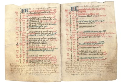 BREVIARY, use of Sarum, in Lat