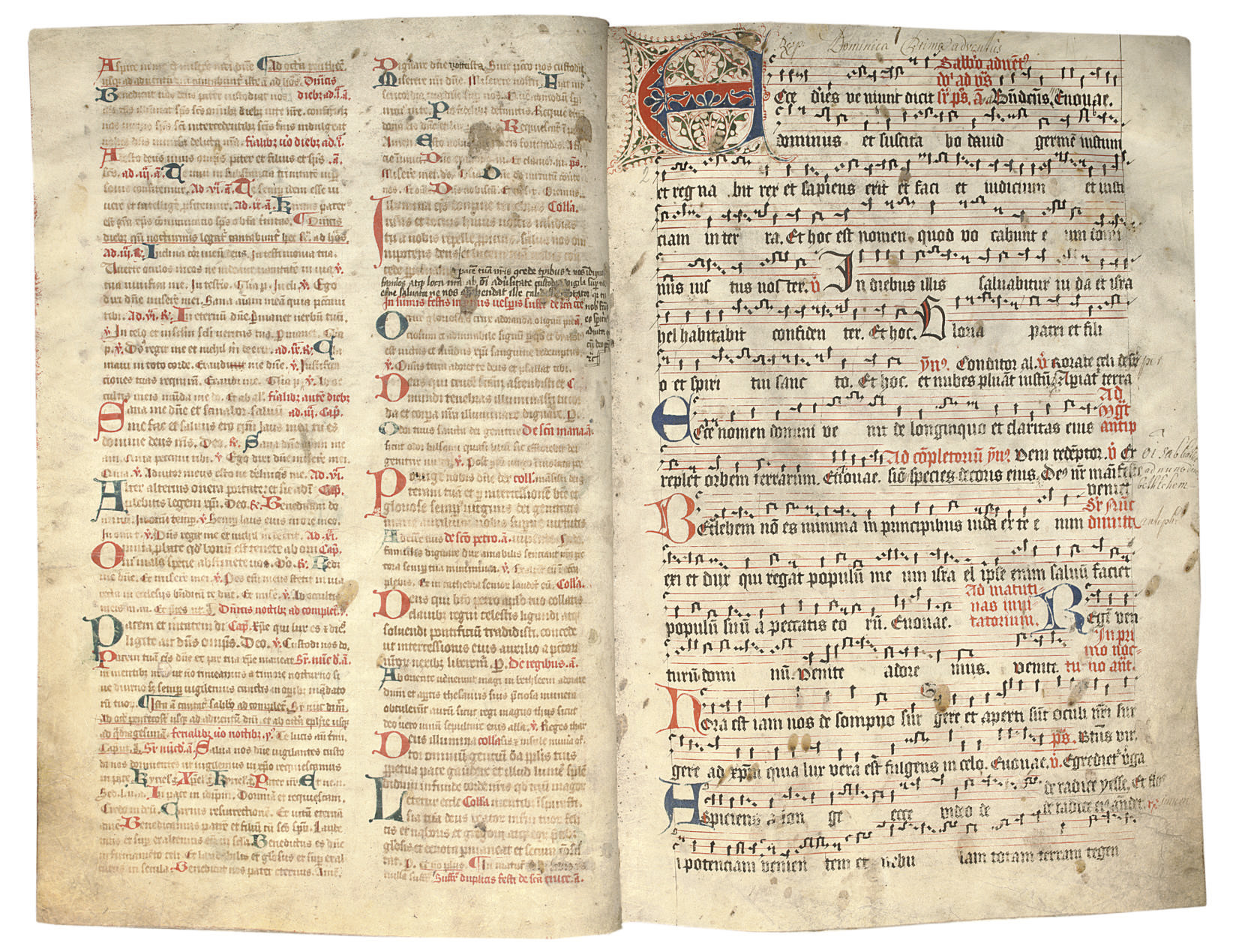 NOTED BREVIARY, in Latin, DECO