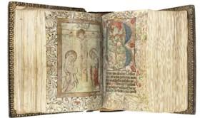 BREVIARY, for the use of Benedictine nuns, in Latin, ILLUMIN