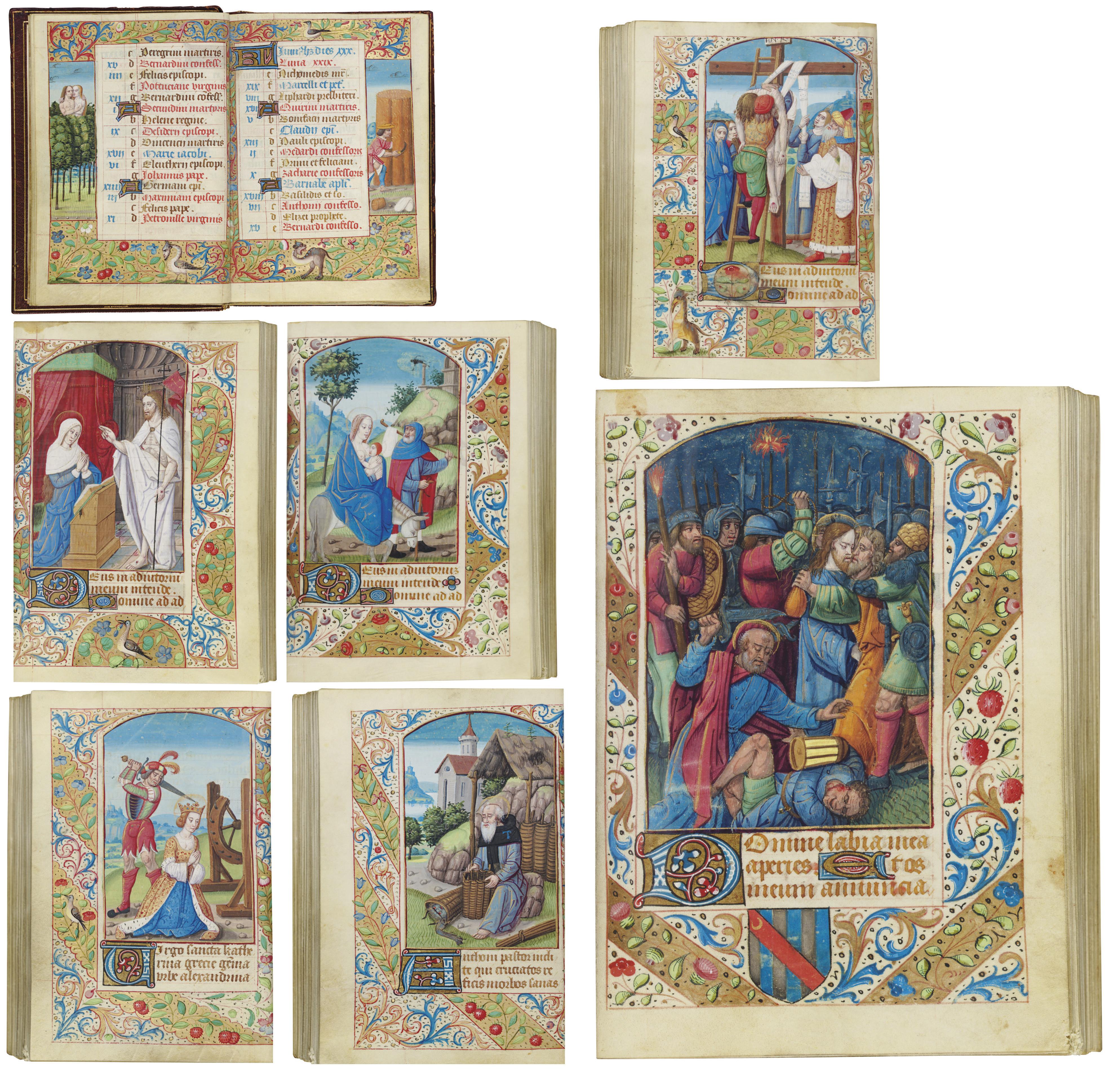 BOOK OF HOURS, use of Geneva, in Latin, ILLUMINATED MANUSCRIPT ON VELLUM