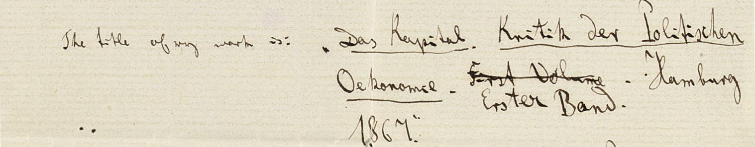 MARX, Karl (1818-1883). Autogr