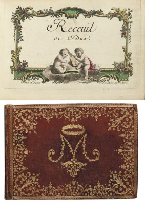MUSIC -- Receuil de Duo, manus