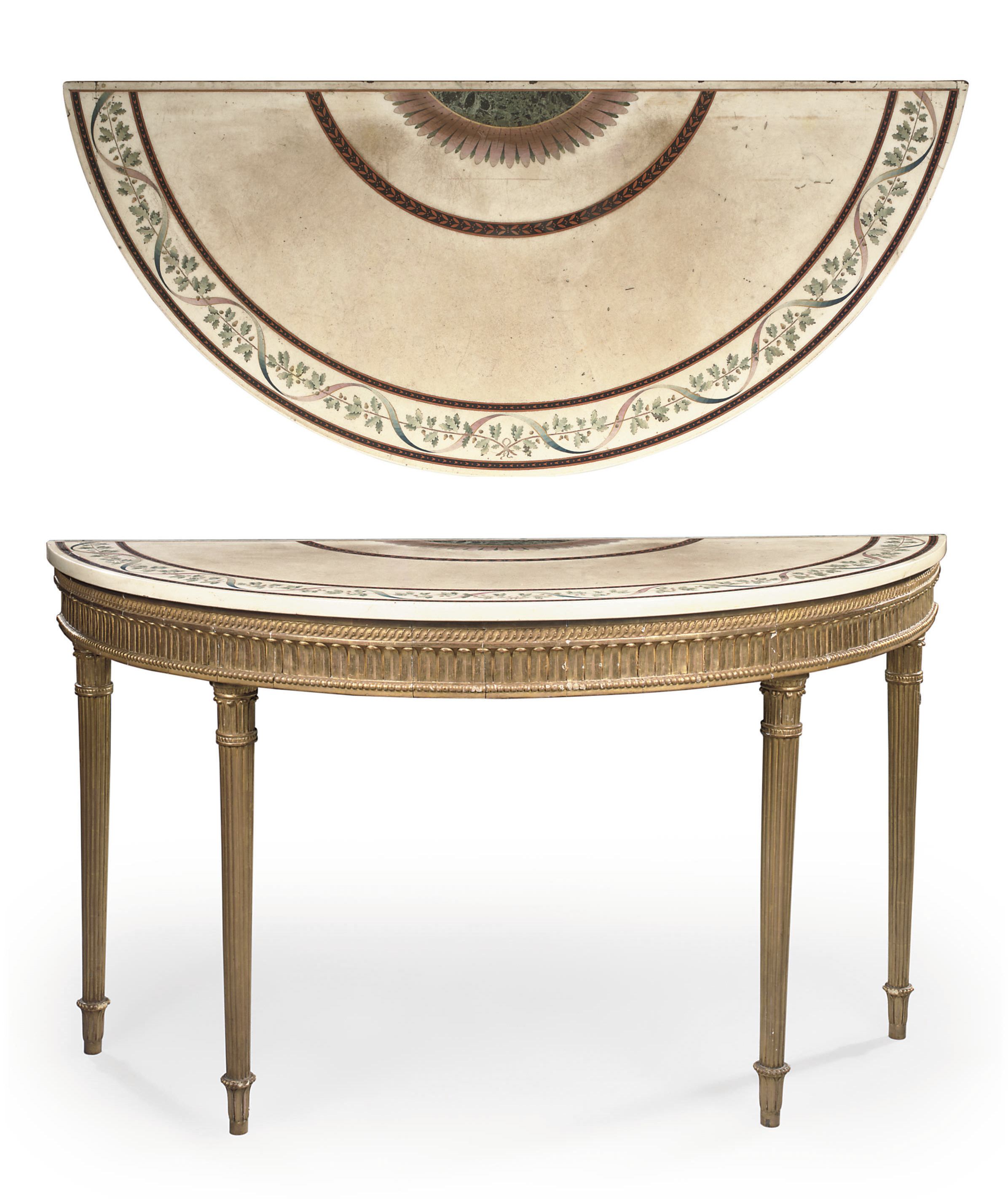 A GEORGE III GILTWOOD AND SCAG