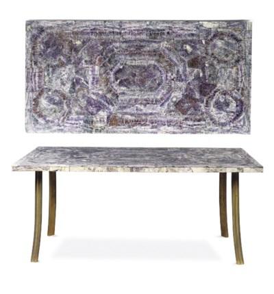A BLUE JOHN-VENEERED TABLE TOP
