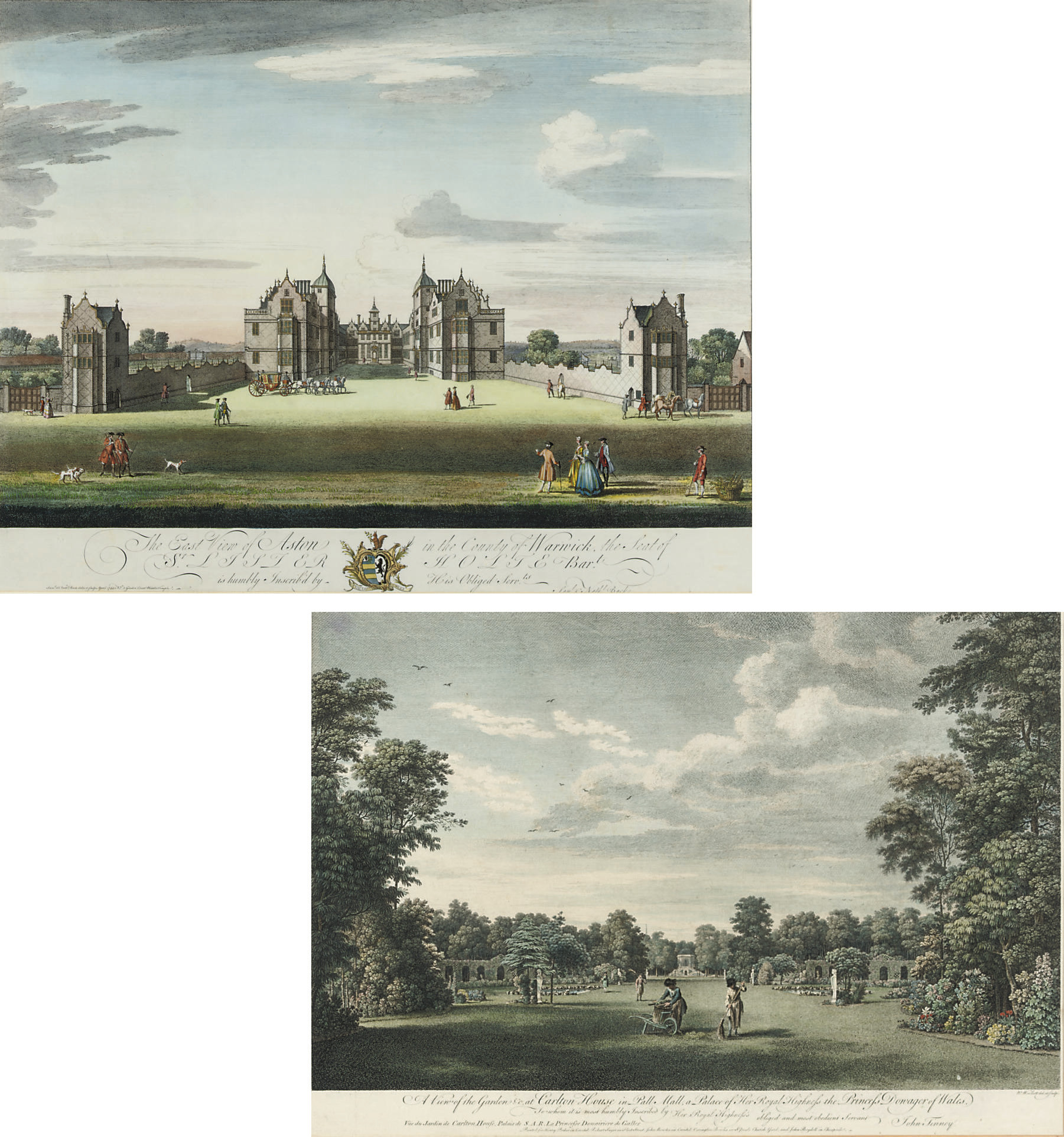 A View of Aston in the county of Warwick, the seat of Sir Lister Holte