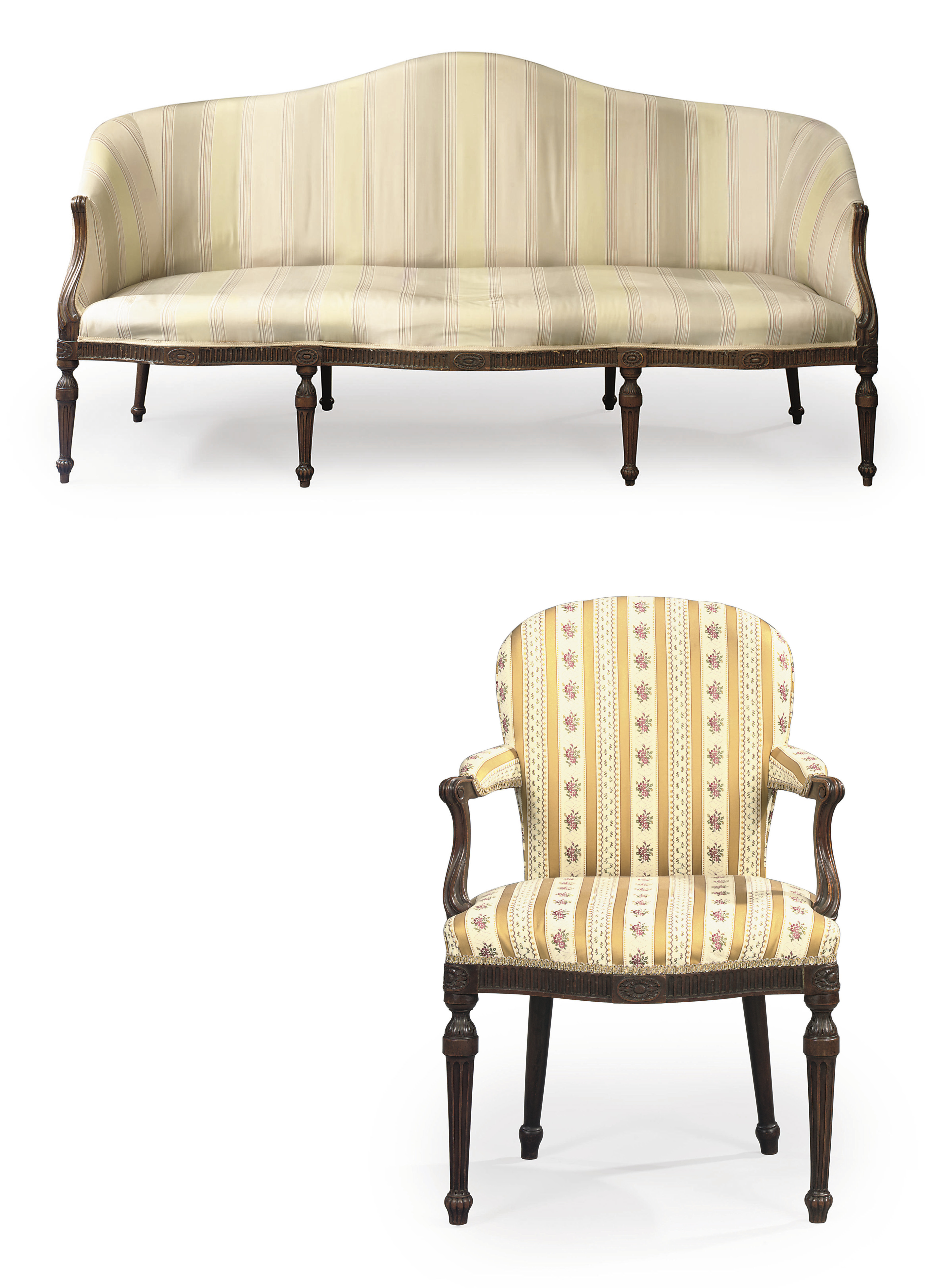 A SUITE OF GEORGE III MAHOGANY