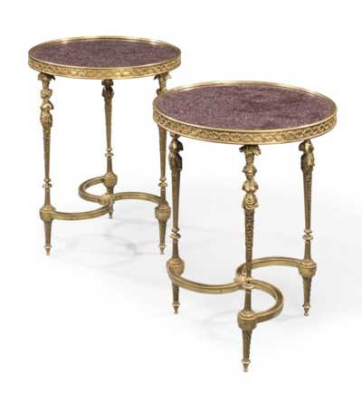 A PAIR OF FRENCH ORMOLU AND EG