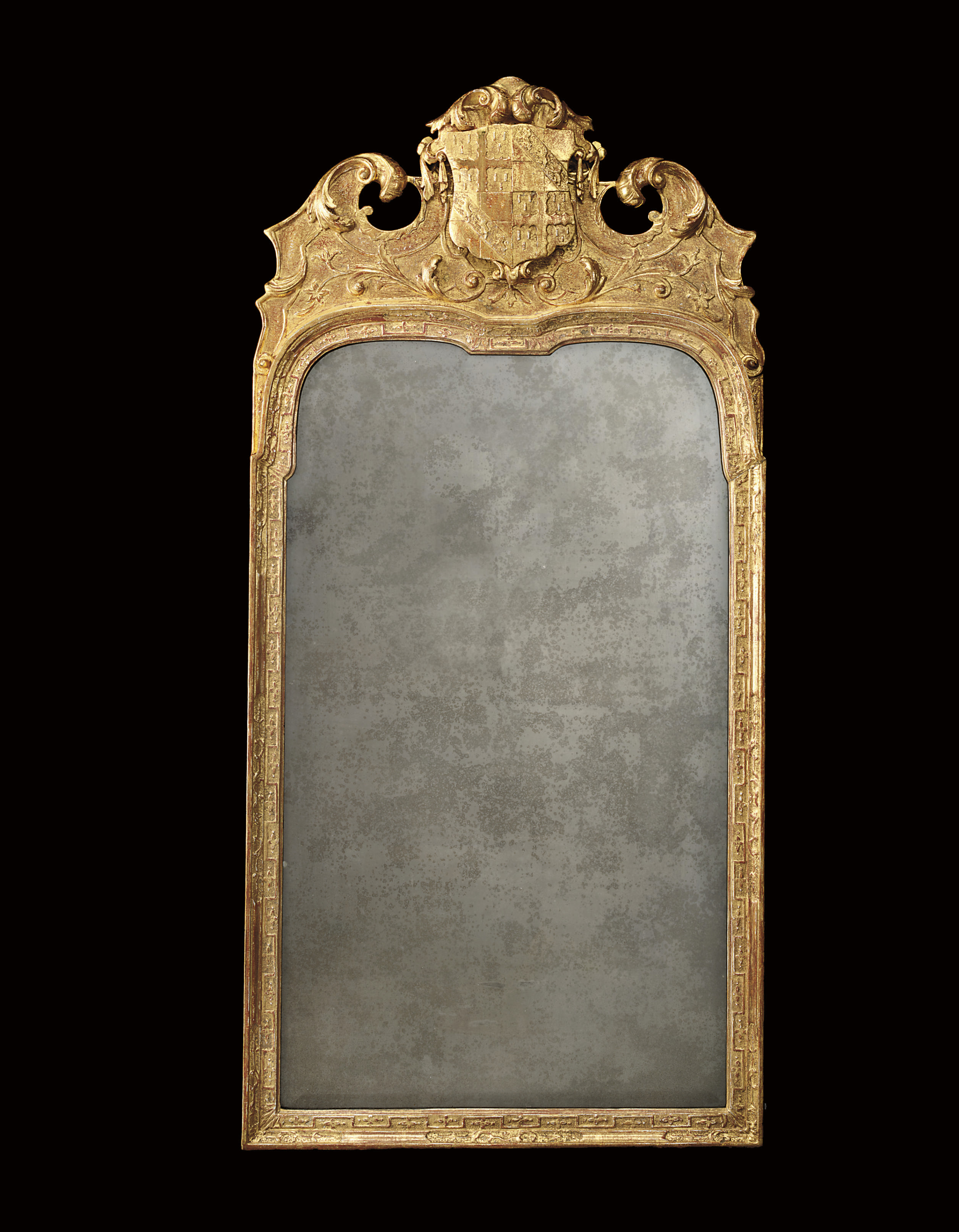 A QUEEN ANNE GILT-GESSO MIRROR