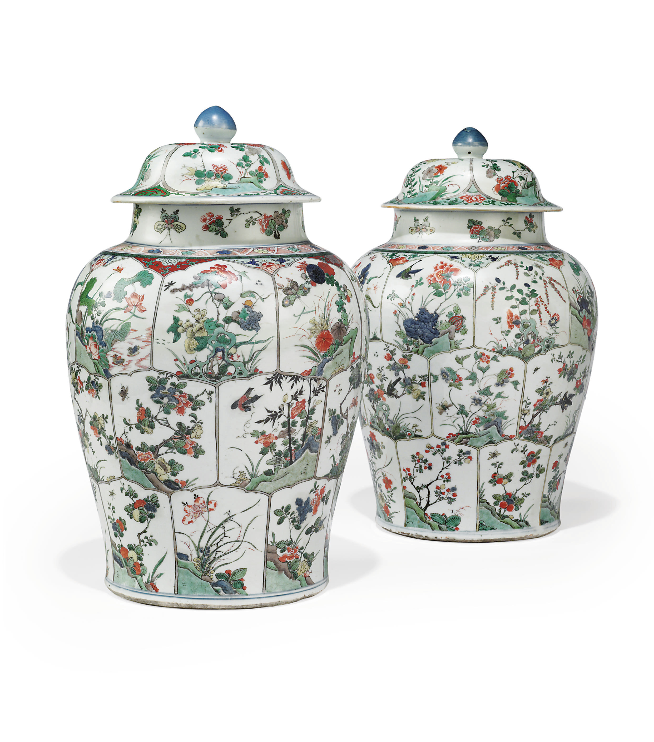 A PAIR OF CHINESE FAMILLE VERT