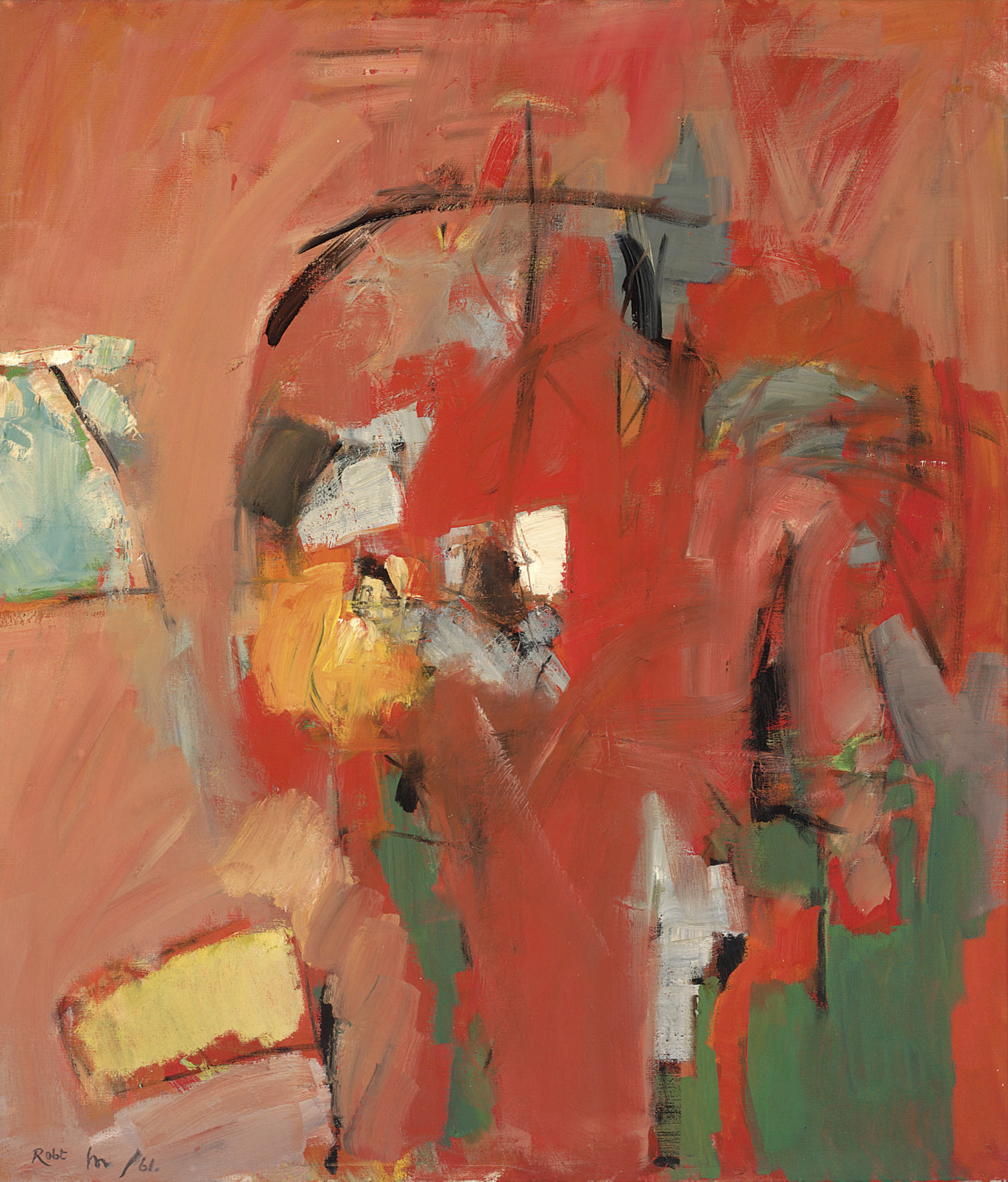 Red and green figuration