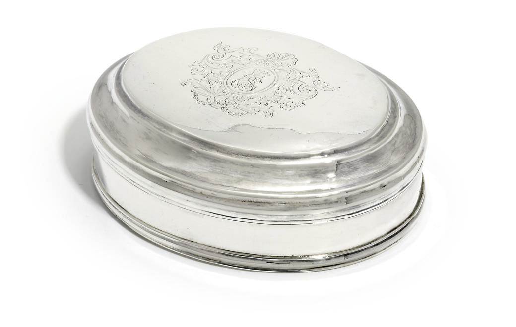 A GEORGE I SILVER TOBACCO-BOX
