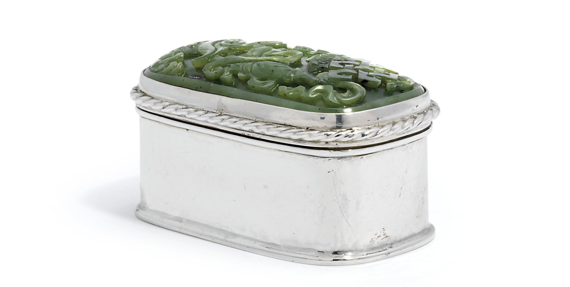 A GEORGE V SILVER AND SPINACH