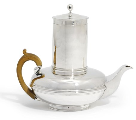 A GEORGE IV SILVER COFFEE-PERC