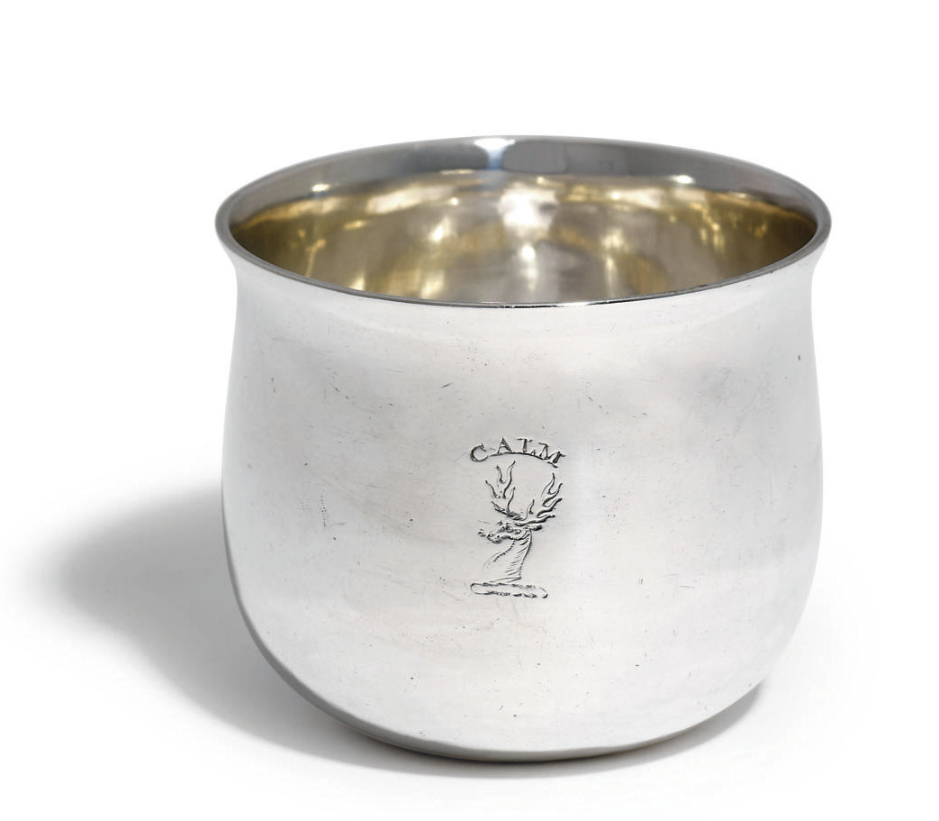 A GEORGE II SCOTTISH SILVER TUMBLER-CUP
