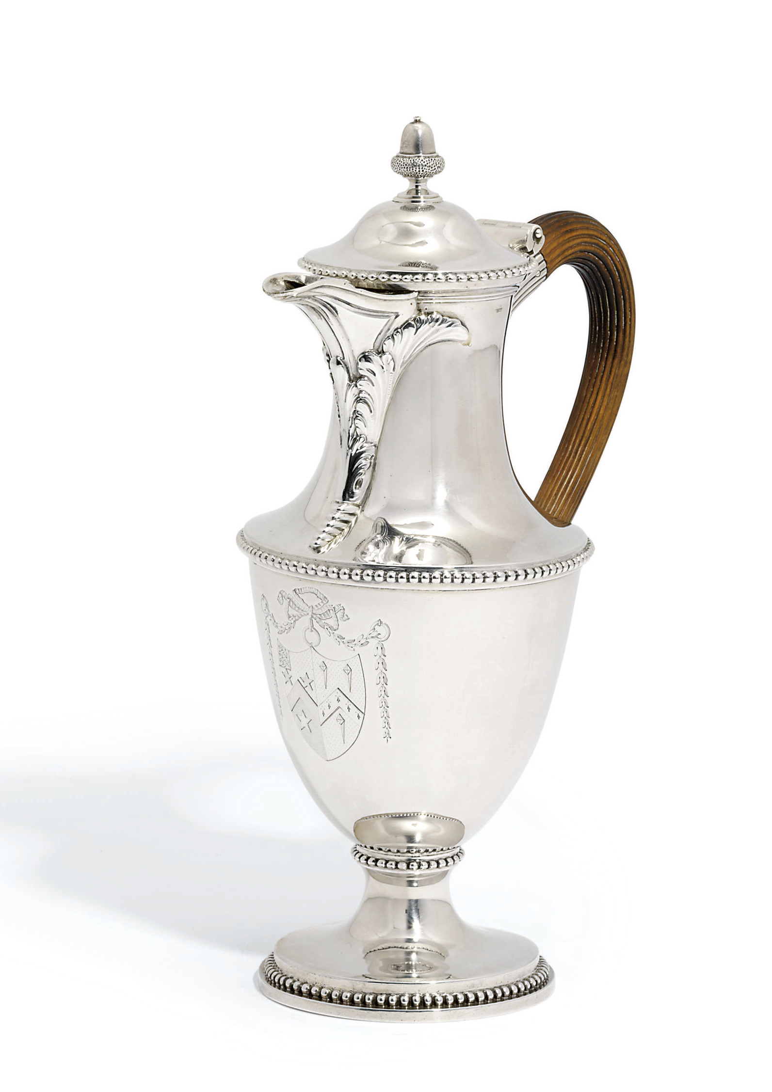A GEORGE III SILVER HOT-WATER