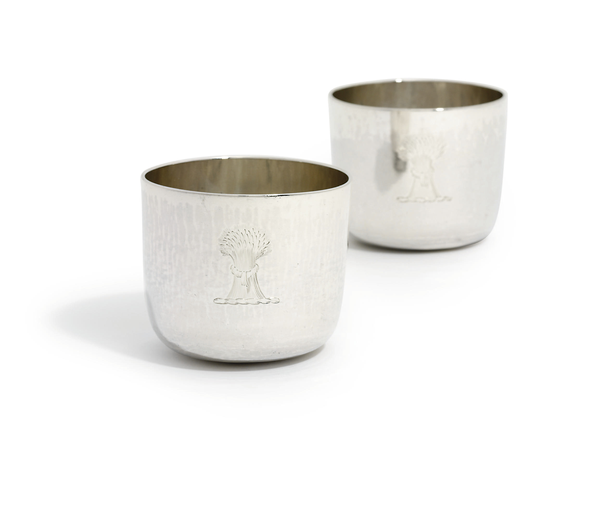 A PAIR OF GEORGE II SILVER TUMBLER-CUPS