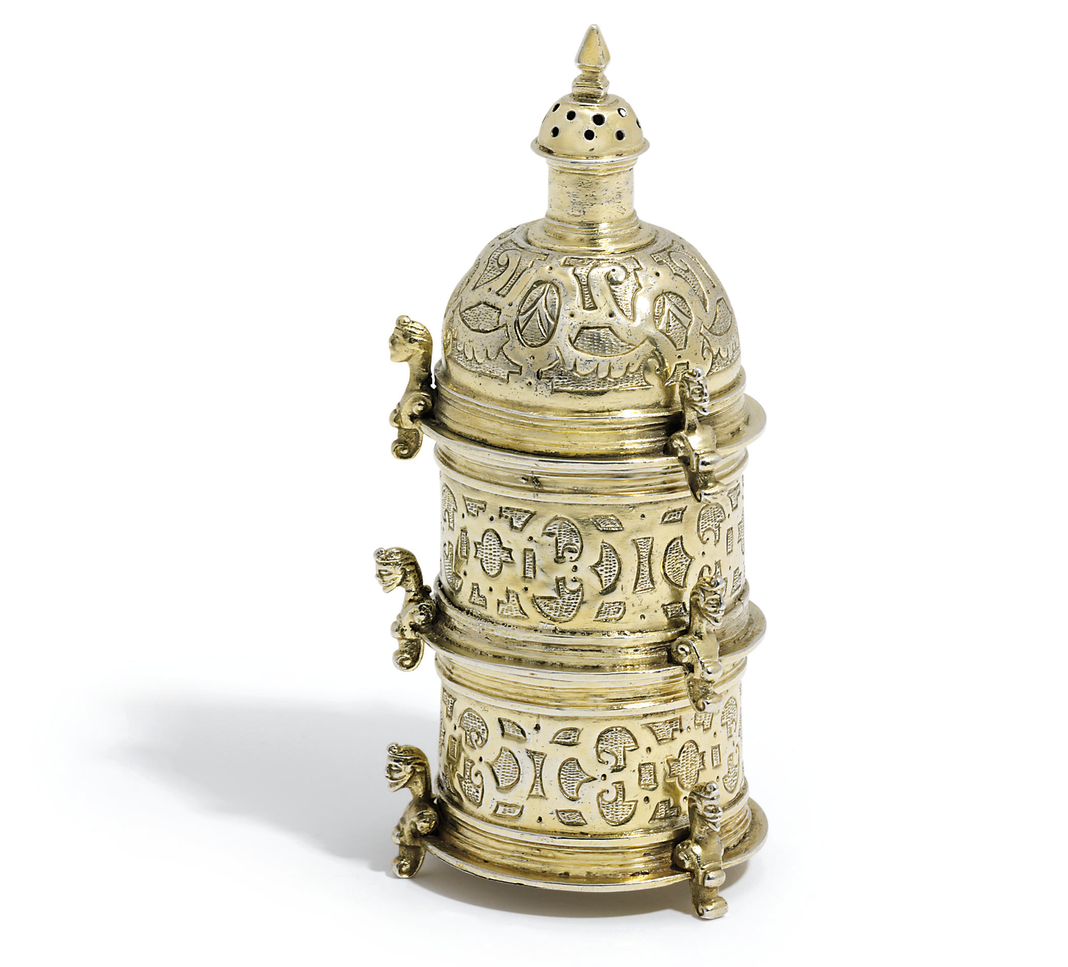 A SPANISH SILVER-GILT TABLE-SA
